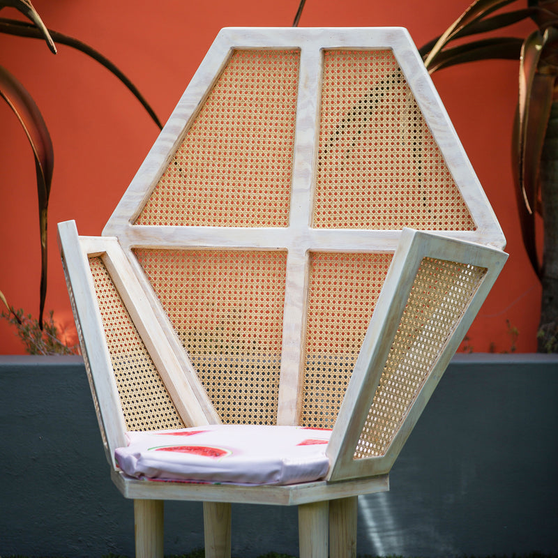 Zipho Cane Throne Chair