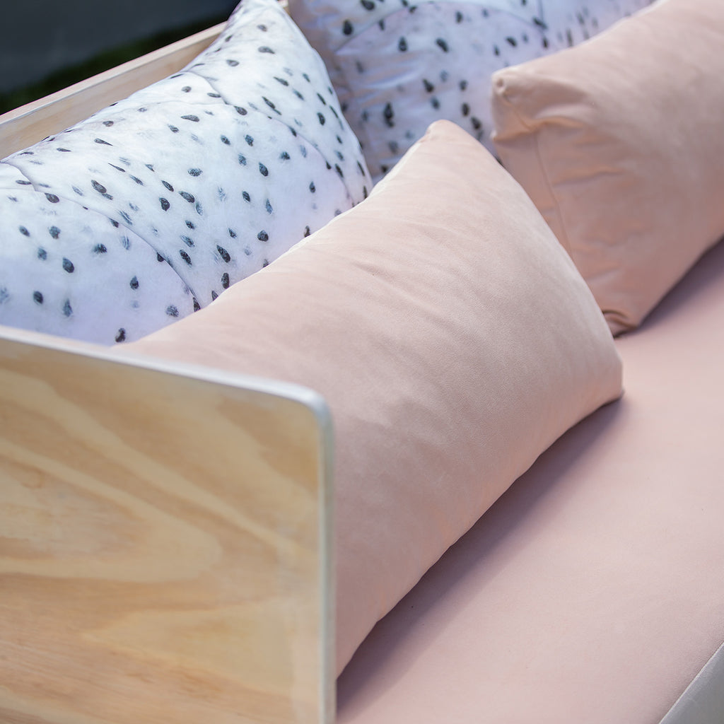 Peach Side Board Couch