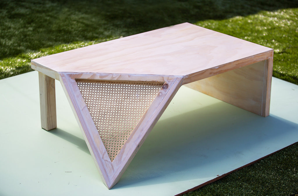 Cane Angled Geo Coffee Table