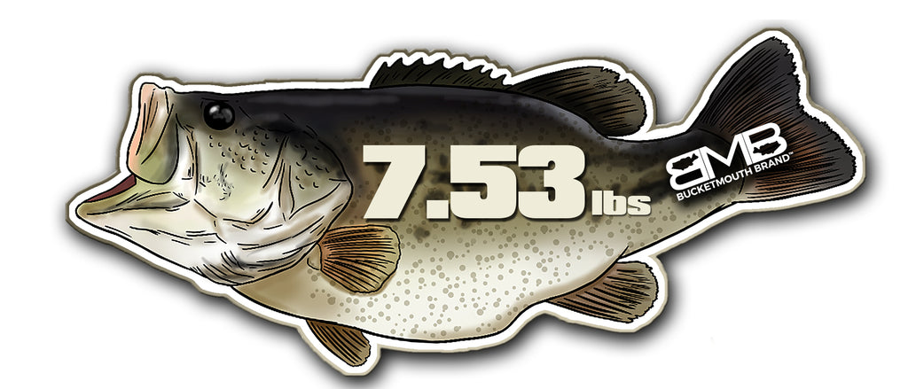 "6.5"" personalized, BMB Personal Best Bass Vinyl Decal"