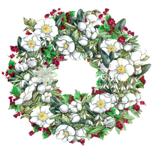 Christmas Rose Wreath