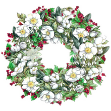 Load image into Gallery viewer, Christmas Rose Wreath
