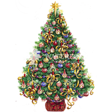 Load image into Gallery viewer, Gold Ribbon Christmas Tree