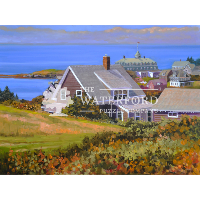 Hillside View of Monhegan