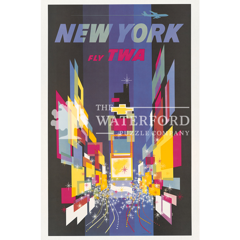 New York Fly TWA Poster