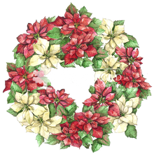 Load image into Gallery viewer, Poinsettia Wreath
