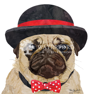 Pug Hat Bow Tie