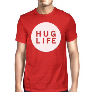Hug Life Men's Red T-shirt Cute Graphic Creative Gift Ideas For Men