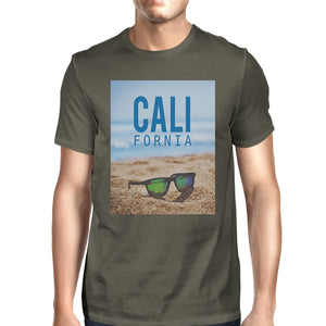 California Beach Sunglasses Real Photo Mens Crewneck Summer Tee