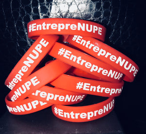 Red  EntrepreNUPE Rubber Bracelet