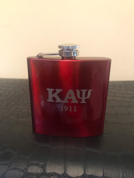 Glossy Red 5oz Stainless Steel Flask