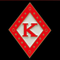 "KAPPA 1"" Diamond Lapel Pin In Red"