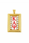GOLD DIAMOND STUDDED KAPPA CHARM WITH CHAIN