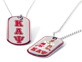 Reversible Silver Dog Tag w/epoxy-Kappa Alpha Psi