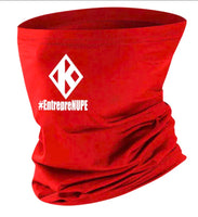 CUSTOM RED FLOATING K FACE SHIELD BANDANA