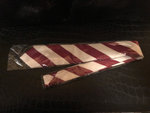 Crimson & Cream Tie - hand made