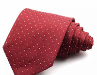 KRIMSON AND CREAM POLKA DOT NECK TIE
