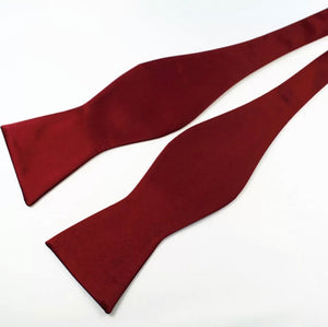 Crimson Self Bow Tie 100% Silk