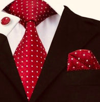 Crimson with White Polka Dot Tie