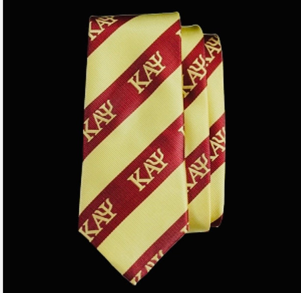 Kappa Crimson/Cream Silk Signature Neck Tie
