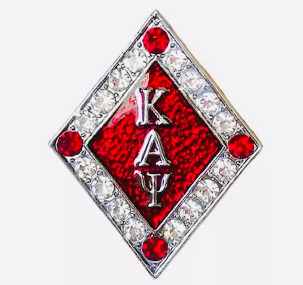 Diamond Crimson Lapel Pin