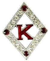 Diamond with Crimson Accent Lapel Pin