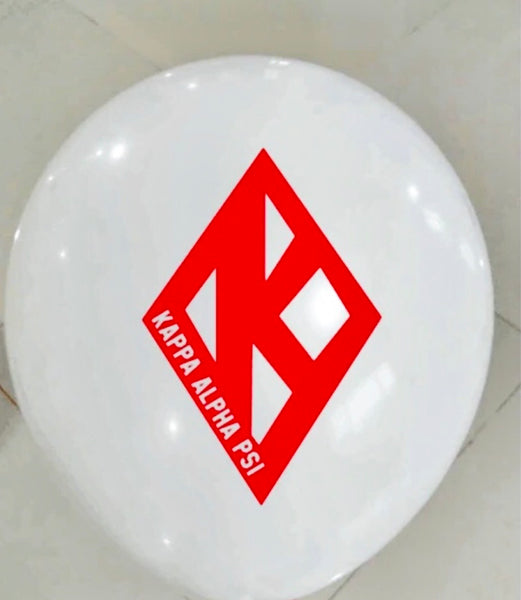 "White Kappa Floating K Balloons (10"")"
