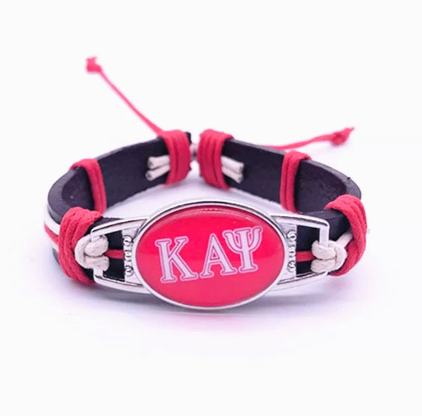 KAPPA LEATHER ADJUSTABLE BRACELET