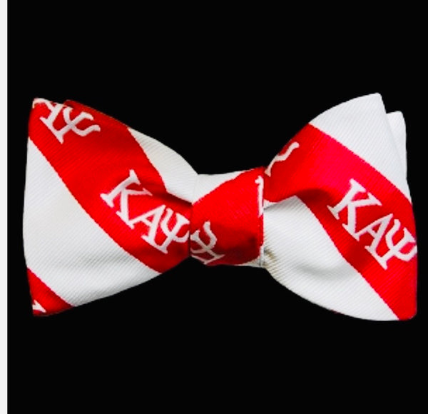 Kappa Red/White Silk Bow Tie