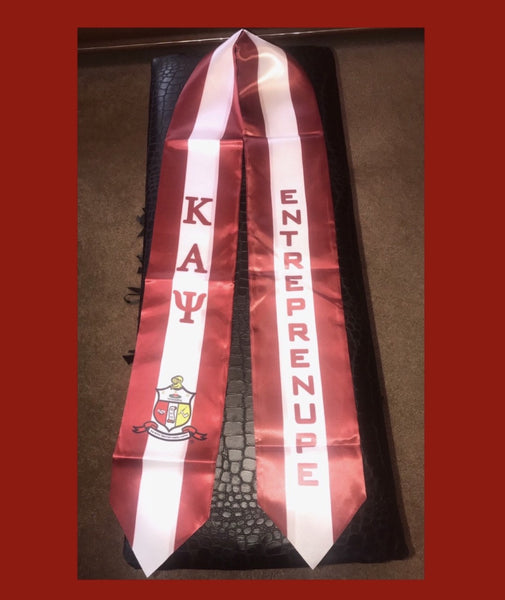 CRIMSON & WHITE GRADUATION SASH/STOLE