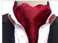 Red Paisley Ascot