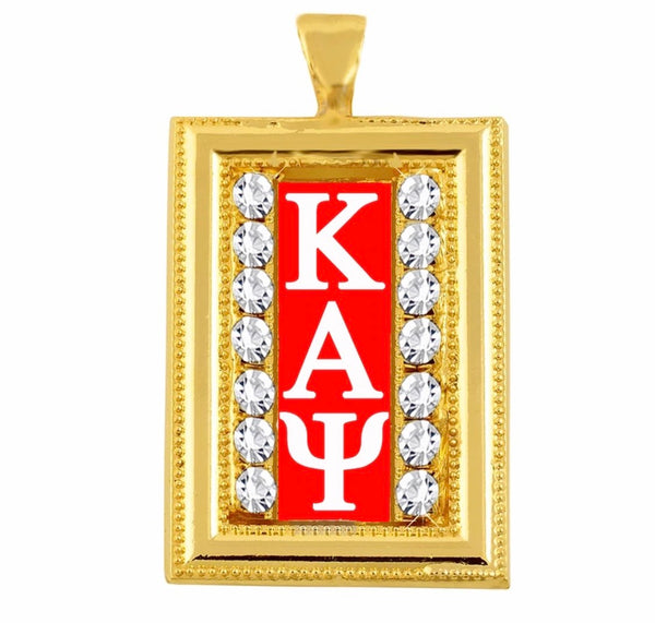 RED STUDDED GOLD KAPPA CHARM WITH CHAIN