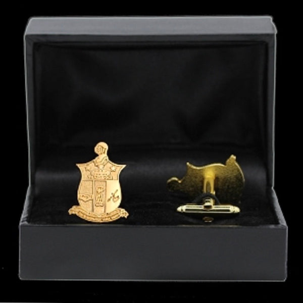 Kappa Sandblast Cufflink and Lapel Pin Set
