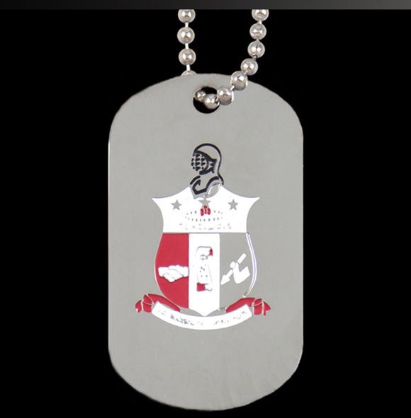 KAPPA Silver Double-Sided Dog Tag W/Chain