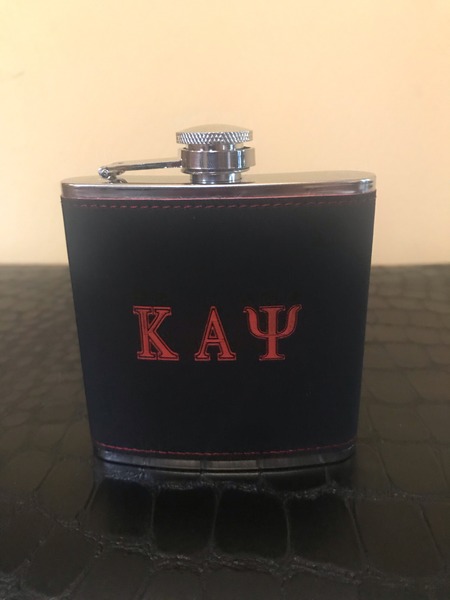 Black Kappa 5oz Stainless Steel Flask