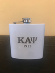 White 5 oz Stainless Steel Flask