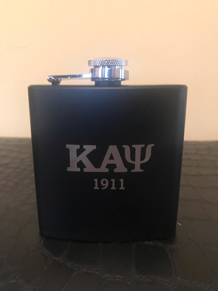 Black & Grey 5oz Stainless Steel Flask