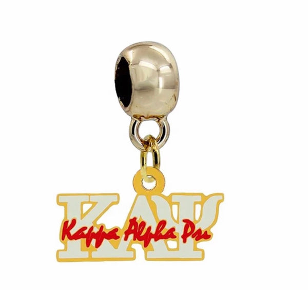 KAPPA ALPHA PSI GOLD/WHITE NECKLACE CHARM (CHAIN INCLUDED)