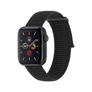 Case-Mate Black Nylon Band for Apple Watch 38mm and for Apple Watch Series 5 40mm