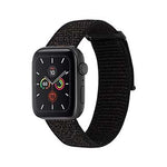 Case-Mate Black Metallic Black Nylon for Apple Watch 38mm and for Apple Watch Series 5 40mm