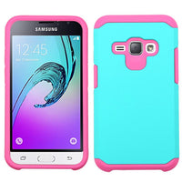 Astronoot Protective Case (Teal Green/ Hot Pink) For Samsung Galaxy J1 (2016)