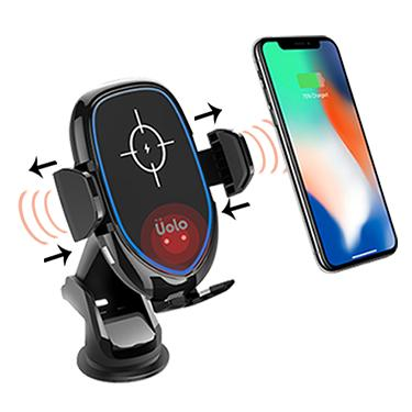 Car Kit - Uolo Volt Infrared Automatic Fast Wireless Charging Car Mount
