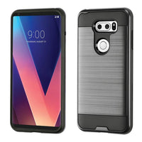 Case - Asmyna Brushed Hybrid Protective Case (Black) For LG V30