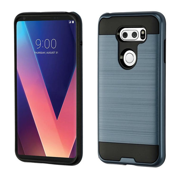 Case - Asmyna Brushed Hybrid Protective Case (Ink Blue/Black) For LG V30