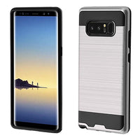 Case - Asmyna Brushed Hybrid Protective Case (Silver/Black) For Samsung Galaxy Note 8