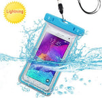 Case - Blue Transparent Clear Waterproof Underwater Phone Case Bag With Lanyard