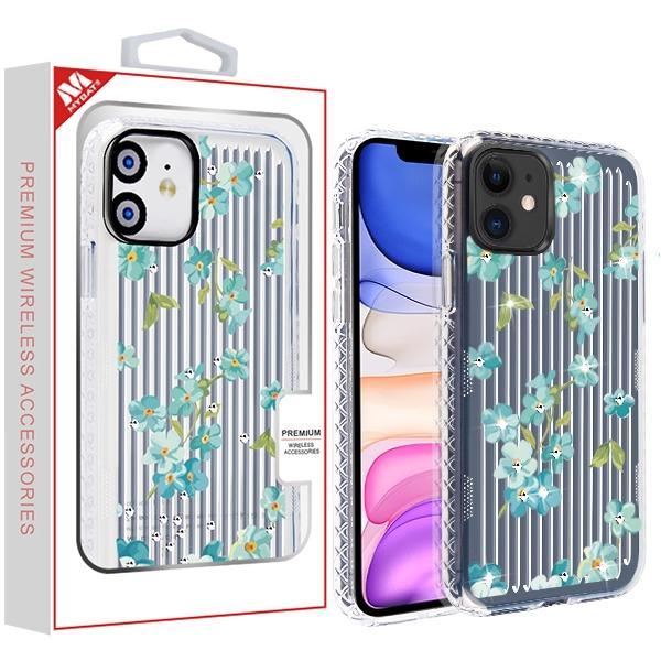 Case - MYBAT Aqua Myositis Suitup Candy Skin Cover (with Diamonds) Case For IPhone 11