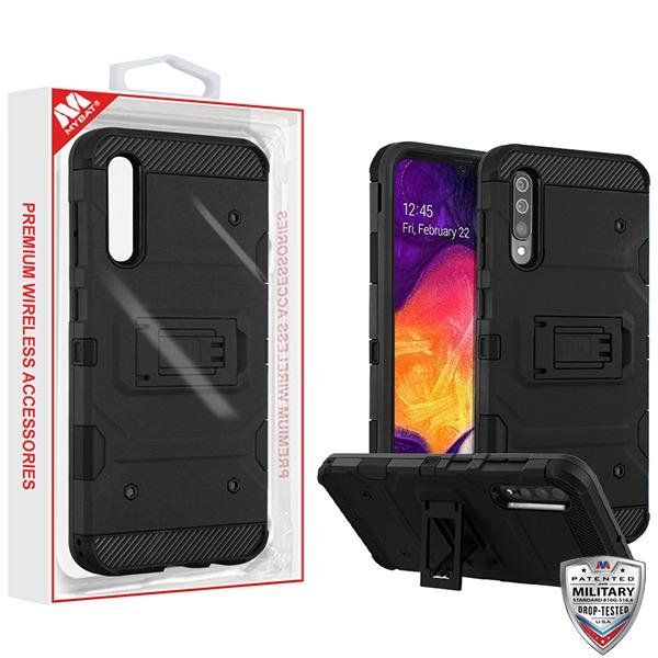 Case - MYBAT Black/Black Storm Tank Hybrid Guaranteed Drop Protective Case For Samsung Galaxy A50