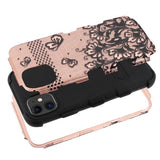 Case - MYBAT Black Lace Flowers (2D Rose Gold)/Black TUFF Hybrid Guaranteed Drop Protective Case For IPhone 11