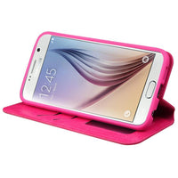 Case - MYBAT MyJacket Wallet Case With Card Slot (Hot Pink) For Samsung Galaxy S6